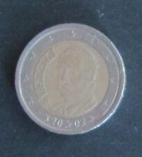 2 Euro Münze Spanien Prägejahr 2002 aus Umlauf Sammlerstück!