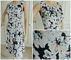NEW EX MONSOON NAVY IVORY PINK SATIN FLOATY FLORAL FIT & FLARE DRESS 8 - 20
