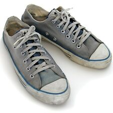 Vintage old USA-MADE Converse faded denim blue All Star Chuck Taylor shoes 8