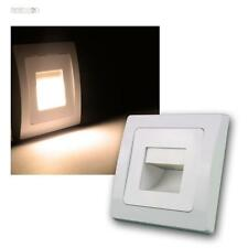 DELPHI luz empotrable LED COB blanco 110lm 80x80mm, incrustada pared de escalera