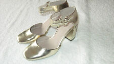 Next Size 6 GOLD METALLIC SHOES *BNWT* New Eu 39 Bridal Wedding Heels Ladies