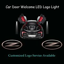 2x 3D Solid Z Logo Car Door Laser Projector Shadow Puddle LED Light for Nissan Z