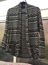 Black and grey patterned ladies jacket from Primark size 8