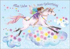 *Nina Chen*Glückwunschkarte*Geburtstag*Einhorn*Fee*Mädchen*Pferd*Grußkarte*Karte