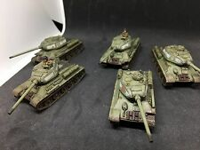 Painted Flames of War Soviet T-34 Tankovy Platoon (SBX30)