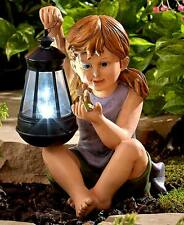 The Lakeside Collection Solar Children Statues - Girl with Fairy