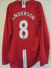 Manchester United 2007-2009 Home Anderson LS Football Shirt Size XL /37824