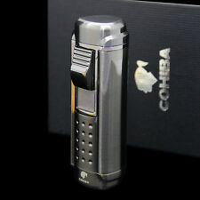 COHIBA Black 4 torch Red flame Cigar cigarette tobacco Lighter with Cigar Punch