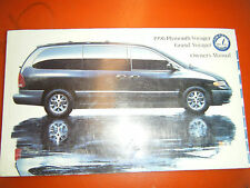 1996 PLYMOUTH GRAND VOYAGER ORIGINAL FACTORY OPERATORS OWNERS MANUAL GLOVE BOX