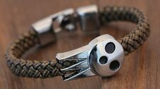 cool! Punk style Soul eater Death the kid leather bracelet wristband man gift