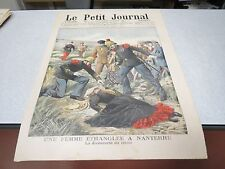 LE PETIT JOURNAL SUPPLEMENT ILLUSTRE N 762 1905 FEMME ETRANGLER A NANTERRE