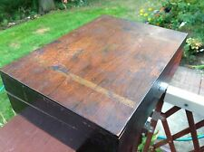 Antique Vintage Wooden Writers Box Divided Slots