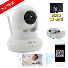 IP WIFI Baby Monitor Wireless 720P Security Camera Night Vision with 32G Card