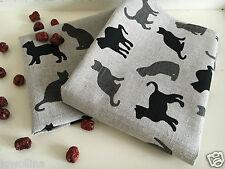 """2 Geschirrtücher Küchenhandtücher Handtücher Katze """"Kitty"""" Leinen (50x70cm)"""