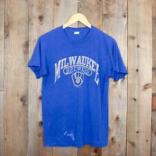 Vintage 80s Milwaukee Brewers paper thin distressed trashed champion M t-shirt