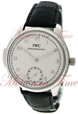 IWC Portuguese Minute Repeater Platinum Mens 44mm Silver Arabic Dial IW544906
