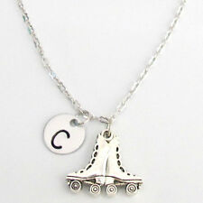 Roller Skate Necklace, Roller skating Gifts Teenage Girls,Initial Necklace