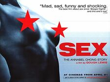 "MOVIE POSTER~Sex: The Annabel Chong Story 1999 30x40"" British Quad Gough Lewis~"