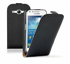 Ultra Slim BLACK Leather Case Cover for Samsung Galaxy Core Plus SM-G350 / G3502