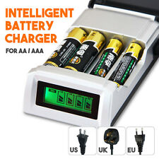 4 Slots LCD Display Smart Charger for AA/AAA NiCd NiMh Rechargeable Batteries