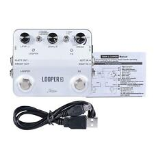 Rowin LOOPER3 Guitar Effects Pedal Mono Stereo Input/ Output with USB Cable P6D1