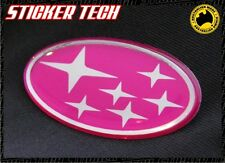 SUBARU PINK & CHROME STARS BADGE EMBLEM SUITS GC8 MY15 MY99 WRX STI IMPREZA