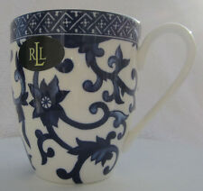 Mug Coffee Cup Mandarin Blue pattern by Ralph Lauren ~ Blue and White ~ NWT
