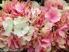 Set of 4 Hydrangea Silk Artificial Flower in Pink for Home Wedding Bridal Party