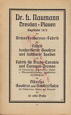 DRESDEN-PLAUEN, Werbung 1920, Dr. L. Naumann Armee-Konserven-Fabrik