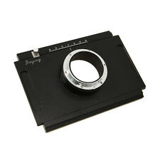 Moveable Adapter Plate for 4x5 Large Format Camera to Canon EOS DSLR 7D 1Ds 5D
