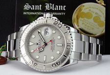 ROLEX - Men's 40mm Platinum & SS YachtMaster - 16622 - Box & Books - SANT BLANC