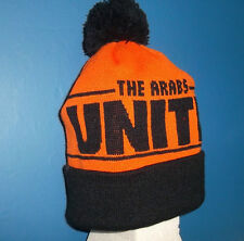 DUNDEE UNITED HAT ORANGE & BLACK BOBBLE