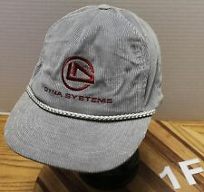DYNA SYSTEMS GRAY CORDUROY SNAPBACK ADJUSTABLE HAT GOOD CONDITION
