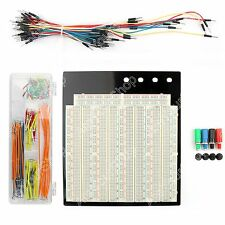 1x Solderless Breadboard 3220 Tie Point PCB +65Pcs +140Pcs Jumper Cable Wire BS5