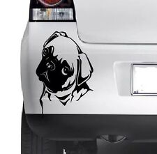 PUG CUTE DOG Vinyl Sticker Decal Car Decal Bumper Laptop Window Wall JMD