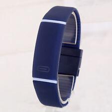 New Fashion Men Women Wristwatch Rubber Digital LED Watch Bracelet Sports CN