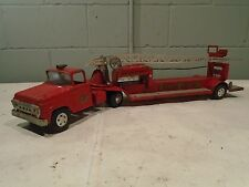 Tonka Fire Dept. Aerial Ladder Fire Truck Engine Tiller Vintage 1956