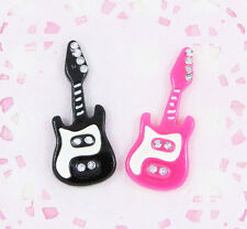6 x Cute Guitar Cabochon Embellishments DIY Decoden Kawaii Craft
