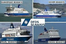 SOUVENIR FRIDGE MAGNET - FERRY LINE - DFDS SEAWAYS NORWAY DENMARK SWEDEN