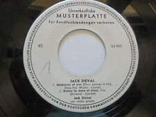 Jack Dieval - Learnin the Blues /Tenderly/Memories of You Promo EP..Vinyl: mint-