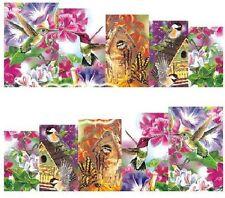 Nail Art Decals Transfers Stickers  Birds & Bird House (DA1019)