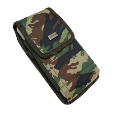 For iPhone 7 plus 6S/6 plus Camouflage DUTY NYLON Pouch Velcro Case Holster+Hook