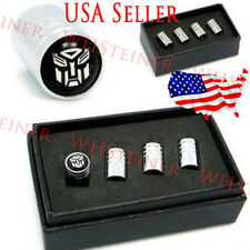 Transformers Autobots Logo Valves Stems Caps Covers Chromed Roundel Tires Emblem