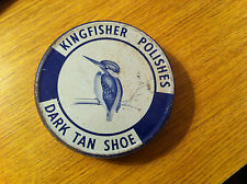 VINTAGE Kingfisher Polacco Tin Dark Tan