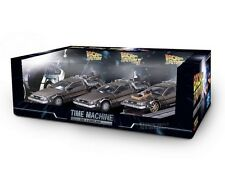 SET OF 3 DeLorean Back to the Future Part I + II + III 1/43 COLLECTOR'S PACK NEW