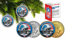 DETROIT LIONS Christmas Tree Ornaments JFK Half Dollar US 2-Coin Set NFL