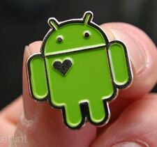 Google Badge Android Pin Brooch Fashion Jewelry Collectible Metal Hearted Green