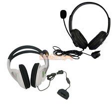 New Black + White Big Headset with Microphone MIC For Xbox 360 LIVE