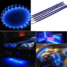 30cm Waterproof 15 Blue LED Car Vehicle Motor Grill Flexible Light Strips 12V WJ
