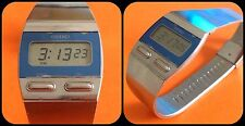 SEIKO-LCD-F231-4000-Slim watch-Skin Quartz-vintage-Japan-stainless steel-rare